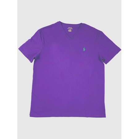 Ralph Lauren Polo Mens SS V-Neck Classic Pony Logo Green/Navy/Blue/Purple New (Pony Mens Classic Bb)
