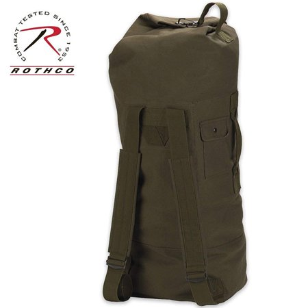 72030aa34b Rothco G.I. Style Canvas Double Strap Duffle Bag - Coyote Brown - image 1  of 1 ...