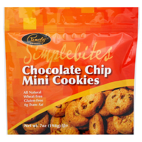 Pamela's Products Mini Chocolate Chip Cookies, 7 oz  (Pack of 6)