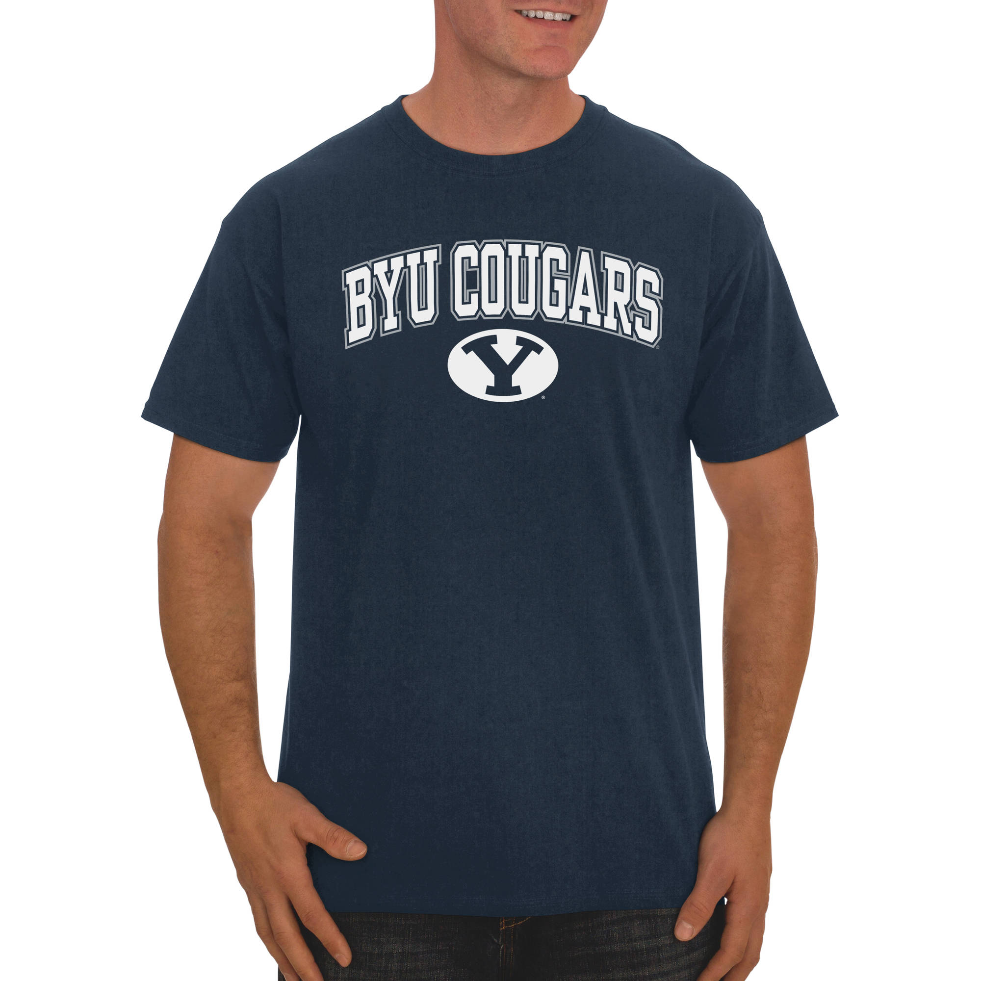 Russell NCAA BYU Cougars Big Men's Classic Cotton T-Shirt