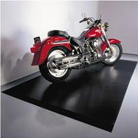 G-Floor Motorcycle Mat - 55 Mil Ribbed 5' x 10' in Midnight Black