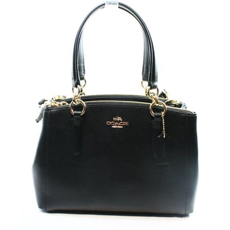 Coach New Black Crossgrain Leather Christie Carryall Satchel Bag Purse  350  029
