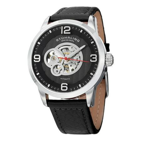 Stuhrling Original  Men's Automatic Legacy Leather Strap Watch