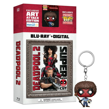 Deadpool 2 (Walmart Exclusive) (Blu-ray + Digital + Pocket Pop! Keychain) - Deadpool Halloween Ryan Reynolds