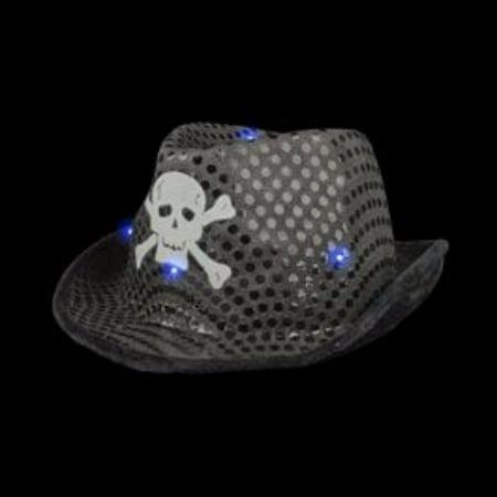 LED Flashing Pirate Fedora - Hats Fedoras