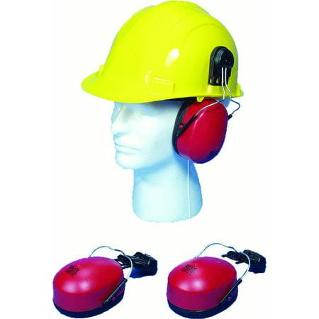 Hard Hat Mounted Ear Muffs, SNR 23db and NRR (Hard Hat Earmuffs)