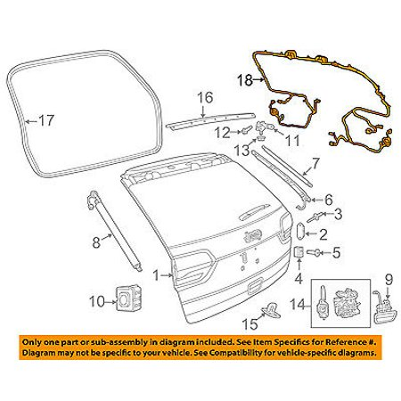 jeep chrysler oem grand cherokee liftgate tailgate hatch-wire harness  68264520ac - walmart com
