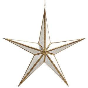 Mirrored Gold Hanging Star  15   15  X 2  X 15   W X D X H  By Retail Resource Ship From Us