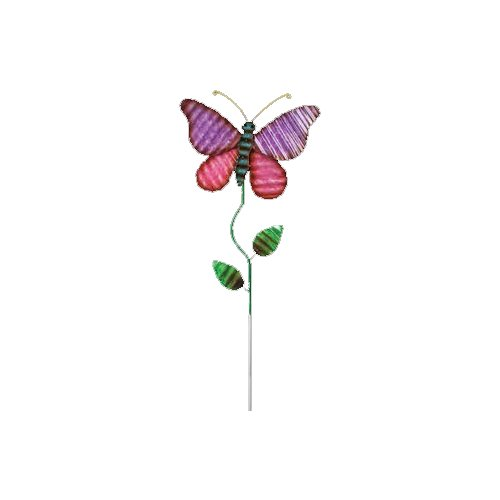 August Grove Kelli Metal Butterfly Garden Stake