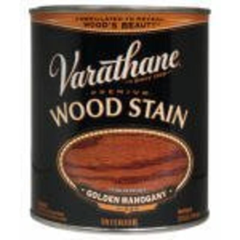Golden Mahogany Oil Base Stain, Quart Varathane Stain 211718H 020066128081