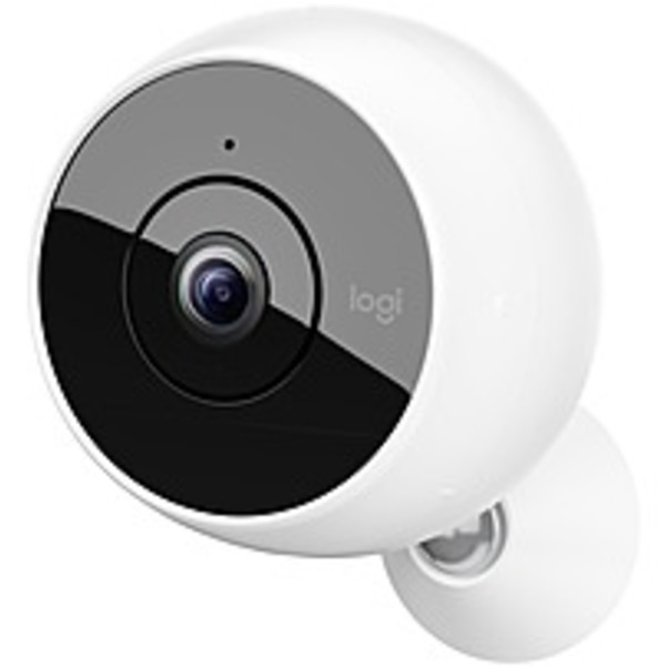 Refurbished Logitech Circle 2 2 Megapixel Network Camera - Color - 15 ft Night Vision - 1920 x 1080 - CMOS - Wireless - Wall Mount, Swivel Mount - Alexa Supported