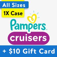 Buy 1, Get $10 Gift Card: Pampers Cruisers Diapers, OMS Pack, (Choose Your Size)