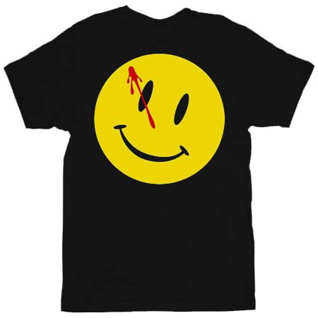 Bloody Face (Watchmen Bloody Smiley Face Black Adult)
