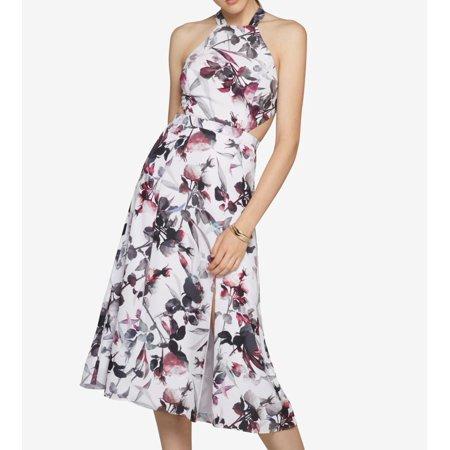 Fame   Partners New White Womens Size 8 Halter Printed Sheath Dress