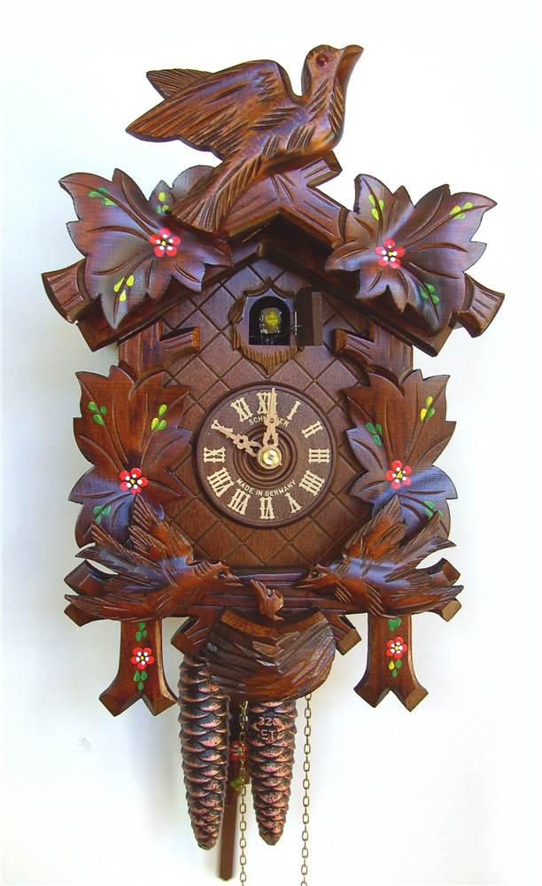1-Day Moving Birds Cuckoo Clock by Schneider Cuckoo Clocks