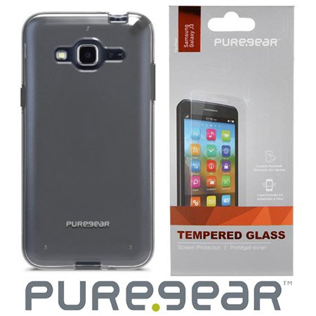more photos 3eaa9 5d1f5 Galaxy Amp Prime Case with Screen Protector, PureGear SlimShell Hard Cover  + Tempered Glass Screen Guard for Samsung Galaxy AMP PRIME, Cricket ...