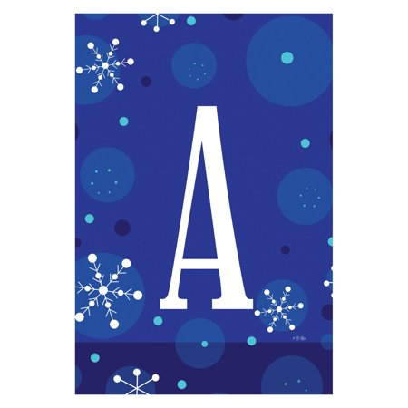 Toland Home Garden Winter Snowflakes Monogram Flag ()