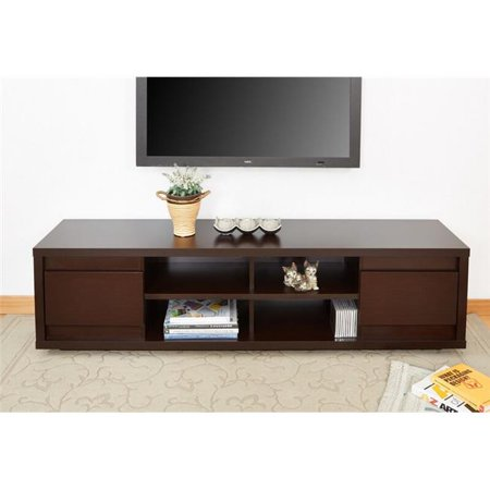 Enitial Lab FCI-138-4L Penley Modern Entertainment Console, Walnut