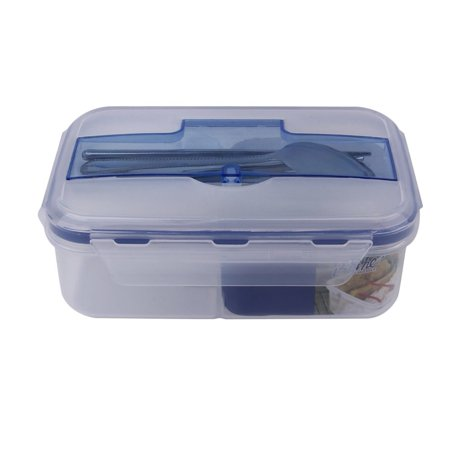 Portable Bento Box Lunch Box With Soup Bowl Chopsticks Spoon Food Containers 1000Ml