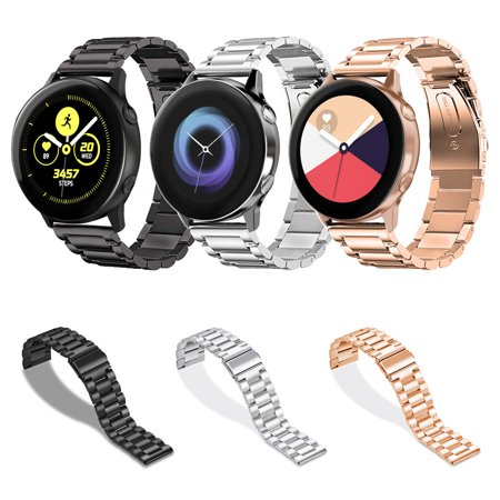 Compatible Samsung Galaxy Watch Active Band, EEEKit Adjustable Classic Wristband Bracelet Replacement Stainless Steel Band Compatible  Samsung Galaxy Watch Active Smartwatch