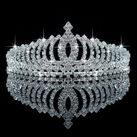 Small Plastic Tiaras (Meigar Wedding Bridal Princess Austrian Crystal Hair Accessory Tiara Crown)