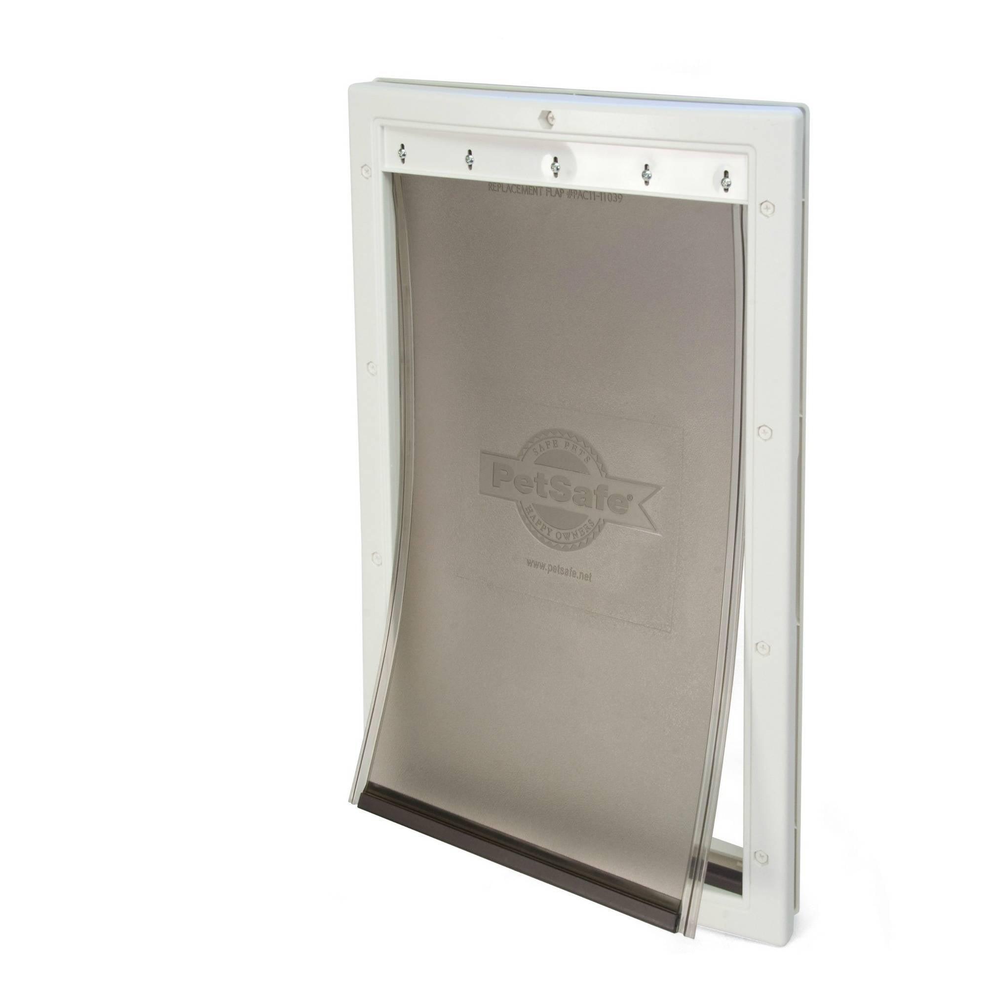 guardian by petsafe white plastic pet door large for pets to 100 lbs - Doggie Door
