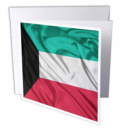 3dRose Kuwait Flag, Greeting Cards, 6 x 6 inches, set of 12