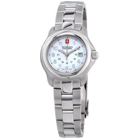 Dkny Mother Of Pearl Dial Watch - Victorinox Mother Of Pearl Dial Stainless Steel Band Ladies Watch 251035