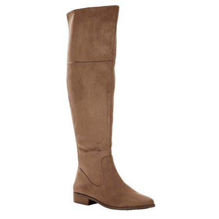 Melrose Ave Vegan Suede Over the Knee Boot