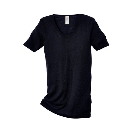 e5294606 Ecoable - Women's Thermal Tee Shirt for Layering, Organic Wool and Silk  Blend (EU42-44 | Medium, Black) - Walmart.com