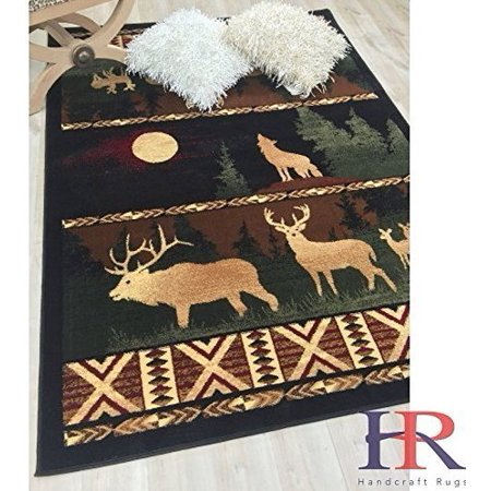 Lodge Cabin Nature And Animals Area Rug Nature Pattern