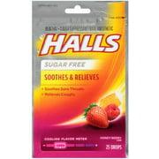 Halls Mentho-Lyptus Drops Sugar Free Honey-Berry 25 Each