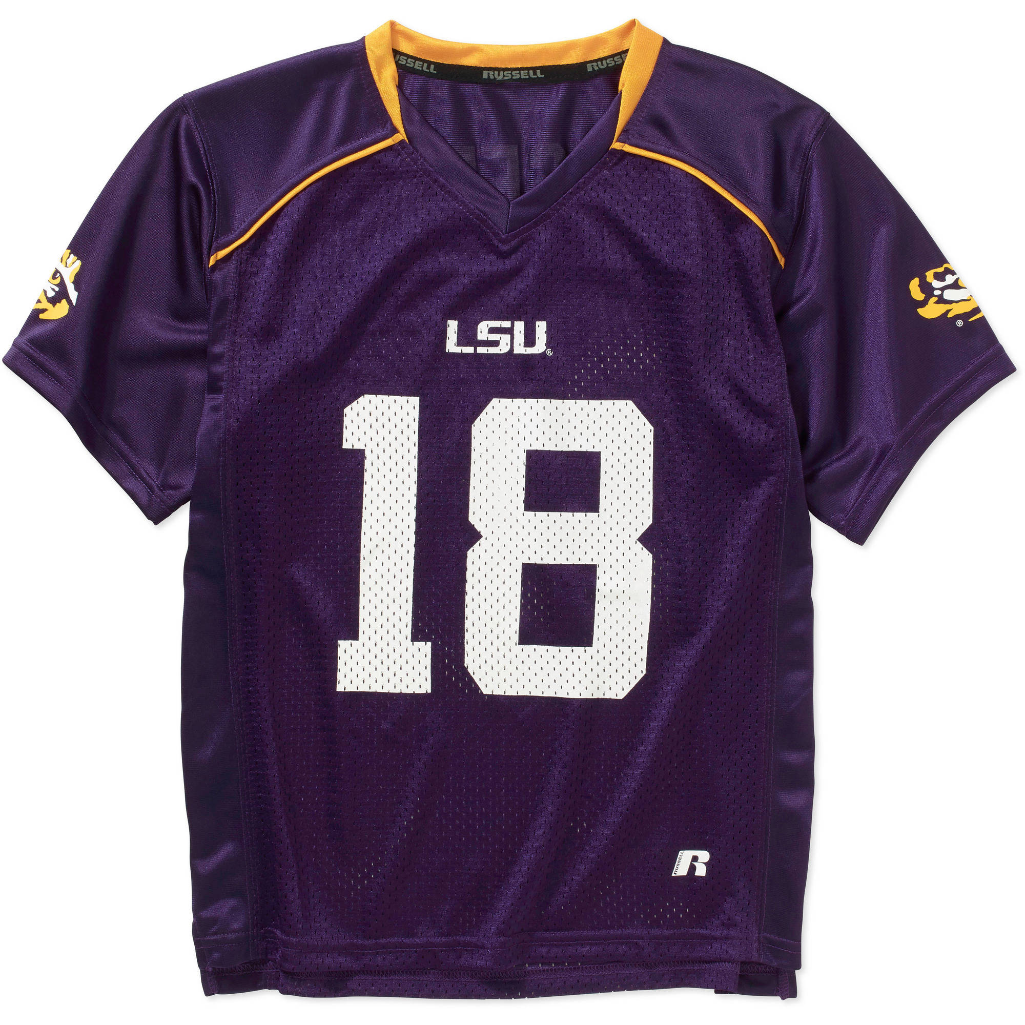 Russell NCAA LSU Tigers Boys Short Sleeve Replica Jersey
