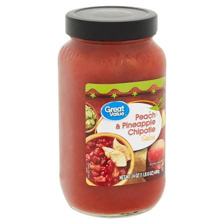 Great Value Mild Peach & Pineapple Chipotle Salsa, 24 oz