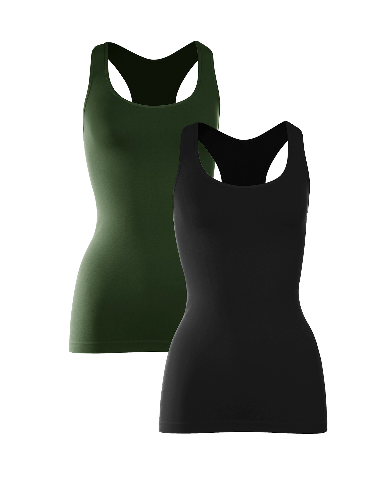Made with Love in The USA Kurve Seamless Supersoft Racerback Tank UV Protective Fabric UPF 50+