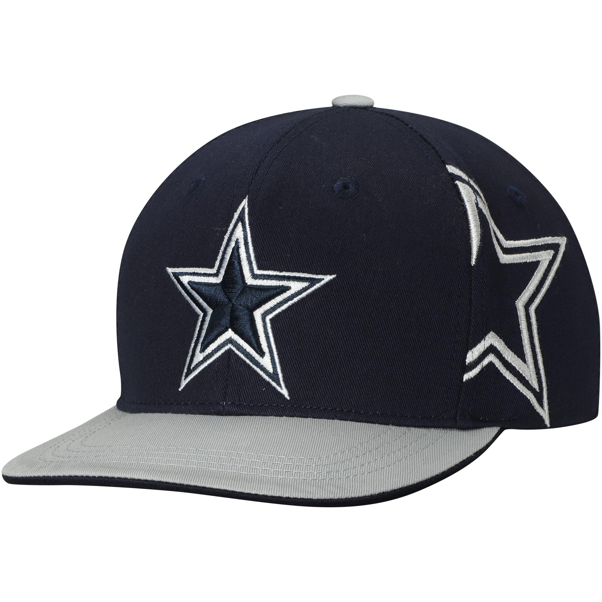 Youth Navy/Gray Dallas Cowboys Sherman Adjustable Snapback Hat - OSFA