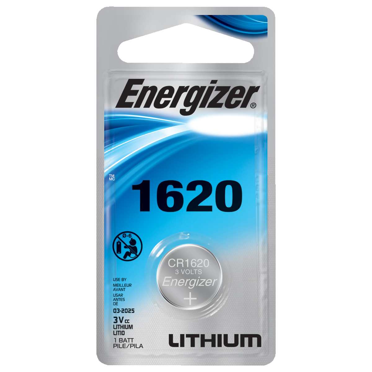 Energizer Lithium CR1620 Button Cell Battery
