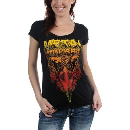 78e055a7 Metal Mulisha - Metal Mulisha - Womens Nevermore T-Shirt - Walmart.com