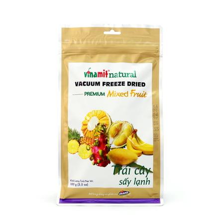 Vinamit Vietnam Vacuum Freeze Dried Mixed Fruit - High Quality Food - 100 gram (Dried Fruit Mix)