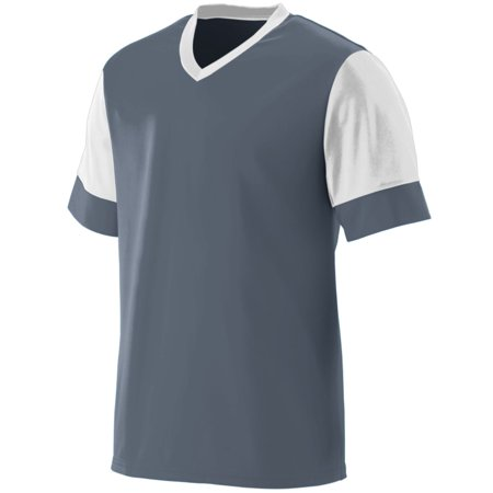 Augusta Sportswear 1601 Practice Uniform Jersey Boys Wicking Polyester V-Neck with Contrast Sleeves