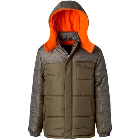 ixtreme baby toddler boy space dye print coloblock puffer jacket ...