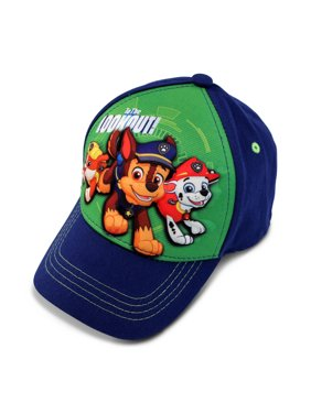 Nickelodeon Toddler Boys Paw Patrol 3D Pop Cap Featuring Chase, Rubble, and Marshal, Blue, Age 2-4