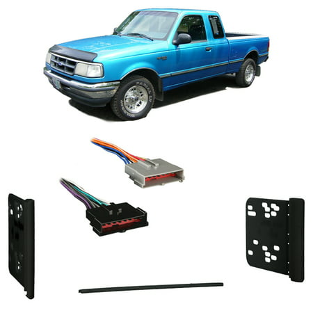 Fits Ford Ranger 1995-1997 Double DIN Stereo Harness Radio Install Dash Kit (Ford Ranger Dash Install Kit)