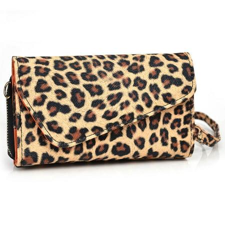 Cheetah Printed Cellphone Wristlet Case