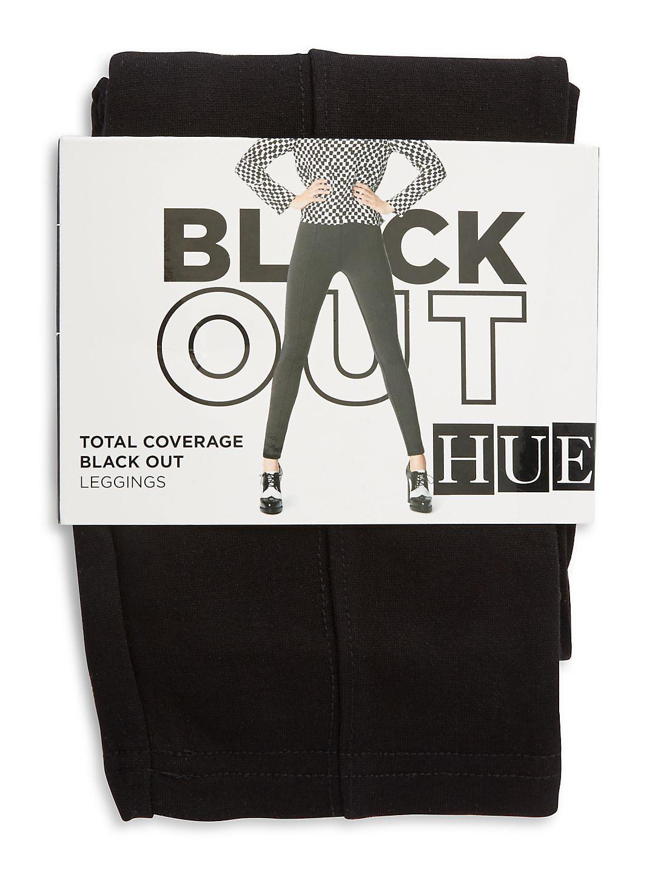 bbcb89790af29 Hue - Women's HUE High Waist Black Out Ponte Legging - Walmart.com