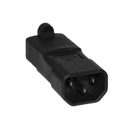 SF Cable, 3 prong Plug Adapter, USA NEMA 5-15R to IEC 60320-C14