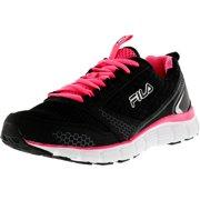 Fila Women's Memory Windstar Black / Knockout Pink Ankle-High Running Shoe - 10M