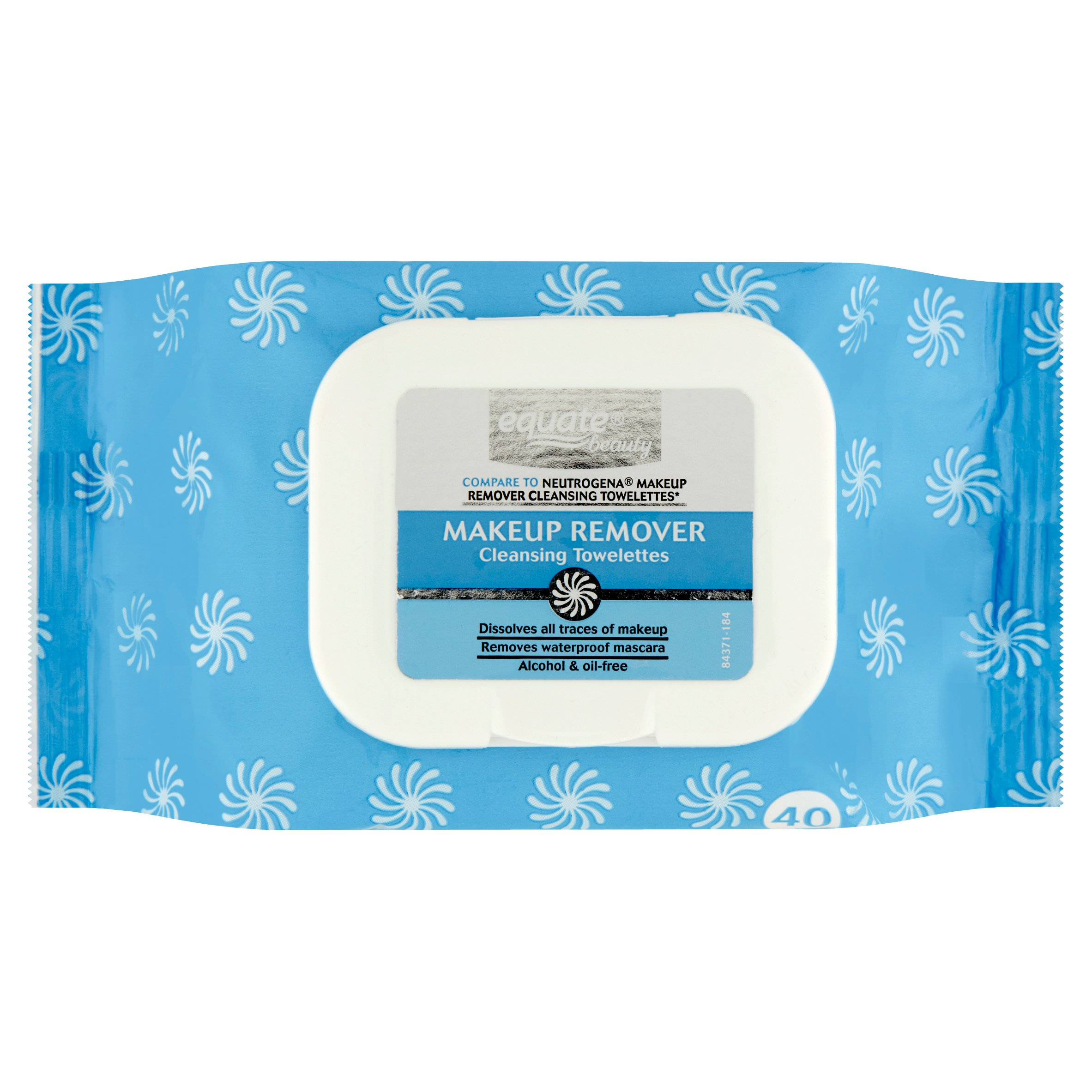 Equate Beauty Makeup Remover Cleansing Towelettes, 40 Ct