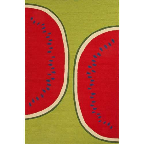 Jaipur Grant Watermelon Indoor/Outdoor Area Rug - Green/Red