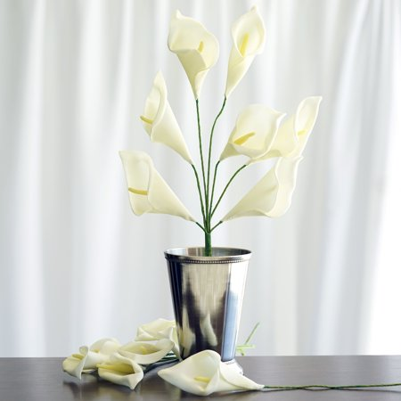 BalsaCircle 42 Calla Lily Artificial Silk Flowers - DIY Home Wedding Party Bouquets Arrangements Centerpieces
